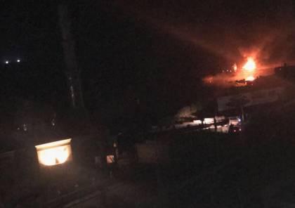 صور..طائرات الاحتلال الاسرائيلي تقصف ميناء غزة البحري