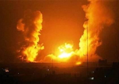 طائرات الاحتلال تقصف قطاع غزة والمقاومة تقصف مستوطنات الغلاف بالصواريخ
