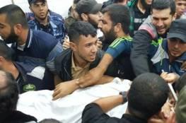 """استشهاد """" الشاب أنس أبو عصر متأثرًا بجراحه التي أصيب بها الجمعة الماضية شرق غزة"""