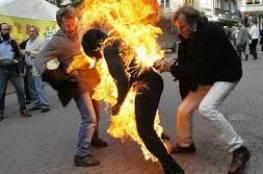 سائق يقدم على حرق نفسه في رفح جنوب قطاع غزة