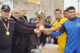 شرطة غزة تفوز بلقب الاتحاد الاولى لكرة القدم الشاطئية