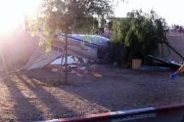 اصابة اسرائيليين جراء تحطم طائرة شمال مطار هرتسيليا