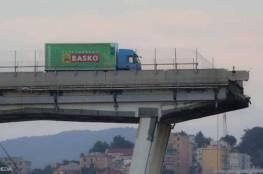 """صورة """"مخيفة"""" من انهيار جسر جنوى"""