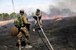 اندلاع 30 حريقاً في مستوطنات غلاف غزة