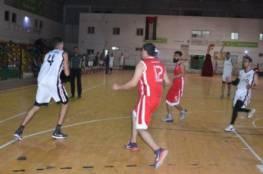 انتصار غزة الرياضي على الحوانين بكأس السلة