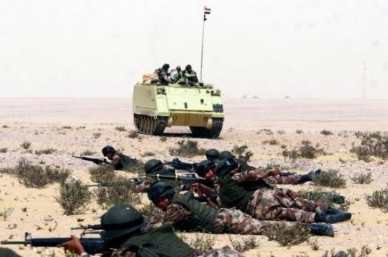 استشهاد جندي مصري برفح واصابة 8 في العريش