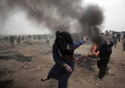 """صور.. ارتفاع عدد الاصابات الى 1170 على حدود غزة في """"جمعة عمال فلسطين"""""""