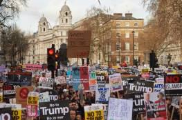 """تظاهرات ضخمة في كبرى العواصم الأوروبية ضد ترامب ومطالب بالغاء زيارته لـ""""لندن"""""""