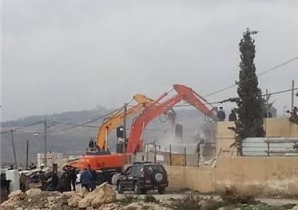 الجرافات الإسرائيلية تهدم منزلا في اللد