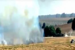فيديو: فلسطينيون يضرمون النار في الحقول المتاخمة لمواقع عسكرية إسرائيلية بطائرة ورقية