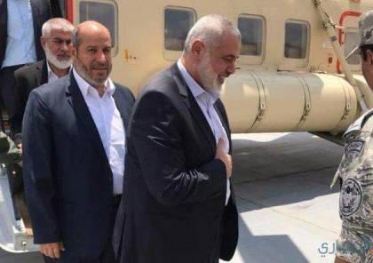 صحيفة اسرائيلية تكشف تفاصيل حصرية عّن لقاء هنية بالمخابرات المصرية