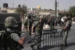 القدس المحتلة : الاحتلال يعتقل 11 مواطنا جنوب الأقصى بينهم فتاة
