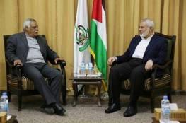 هنية يستقبل وفداً قيادياً من الديمقراطية في غزة