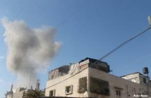 القصف الاسرائيلي على غزة ..تصوير بلال حسنه