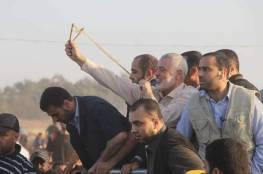 أين كان هنية خلال إطلاق المقاومة صواريخها على المستوطنات الإسرائيلية؟