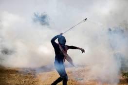 إطلاق قنابل الغاز تجاه المتظاهرين شرق البريج وسط القطاع