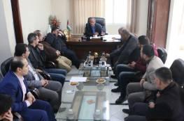 """المكتب التنفيذي للجنة الأولمبية يناقش رعاية شركة """"جوال"""" للاتحادات الرياضية بغزة"""