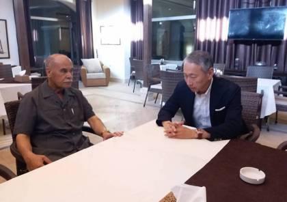 ابو سمهدانة يطلع السفير الياباني على الاوضاع الكارثية في غزة