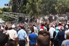 المركز الفلسطيني : عناصر خرجت من مسجد بالزي المدني قمعت مسيرة الاسرى بغزة