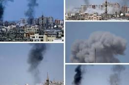 الاحتلال يقصف مواقع للمقاومة في مناطق محتلفة من القطاع وصواريخ على المستوطنات