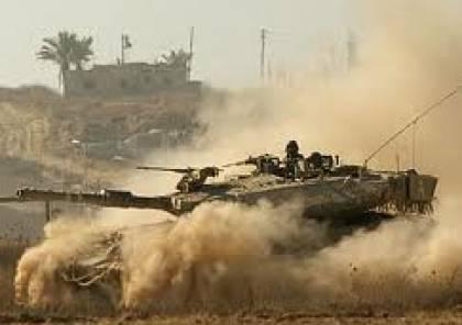 توغل محدود للجرافات الاسرائيلية شرقي خزاعة جنوب قطاع غزة