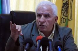 الأحمد ينفي موافقة القيادة على التهدئة مقابل إدخال أموال لغزة عن طريق إسرائيل