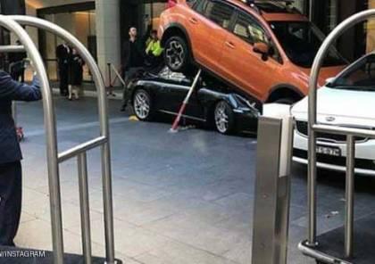 عامل صف سيارات بفندق يتسبب في كارثة