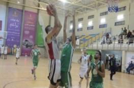 انتصار مثير لغزة الرياضي على خدمات رفح بدوري السلة