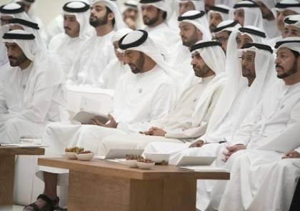 """محمد بن زايد يشهد محاضرة """"اختطاف الدين واستراتيجية استعادته """""""