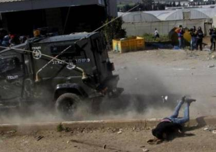 الخليل: آلية عسكرية إسرائيلية  تدهس فتى شرق يطا