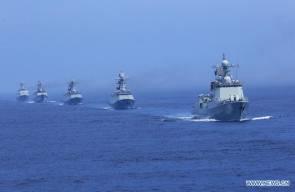 الصين وروسيا تختتمان التدريبات البحرية