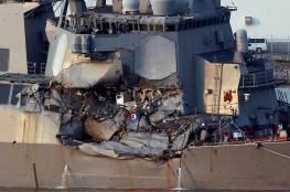 البحرية الامريكية تعلن العثور على جثامين بحارتها المفقودين