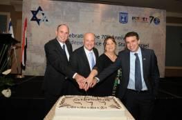صور: إسرائيل تحتفل بذكرى نكبتنا السبعين في قلب العاصمة المصرية