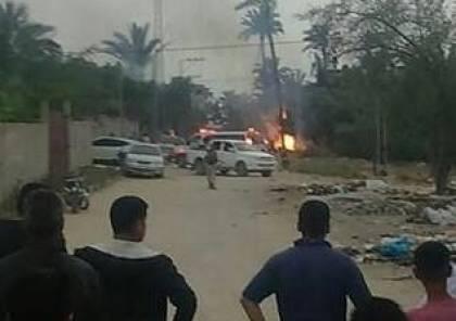 صور : استشهاد 6 مقاومين بانفجار عرضي في الزوايدة وسط قطاع غزة
