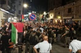 حيفا : شرطة الاحتلال تعتدي على معتقلي مظاهرة مناصرة غزة داخل المركز