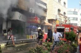 الدفاع المدني تخمد حريقاً نشب في مطعم وسط جنين