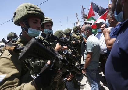 الاحتلال يقمع مسيرة مناهضة ضد الاستيطان في عصيرة الشمالية
