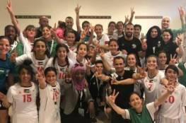 واعدات فلسطين تحقق الفوز الأول في بطولة غرب آسيا