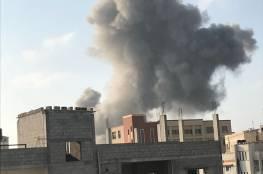 قصف إسرائيلي وسط قطاع غزة دون أن يبلغ عن اصابات