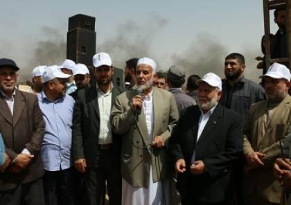 بحر: المقاومة لن تقف صامتة تجاه اعتداءات الاحتلال على مسيرات العودة