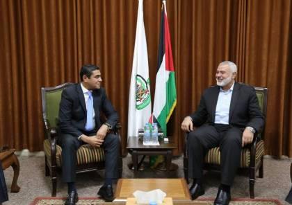 صور: وفد مصري رفيع المستوى يصل غزة ويلتقي اسماعيل هنية