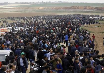 الهيئة الوطنية لمسيرة العودة تقرر تقديم المخيمات 50 مترا تجاه حدود غزة