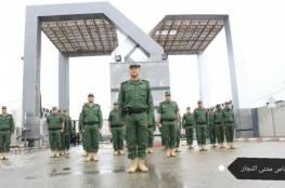 صور.. للمرة الاولى منذ 11 عاما.. طابور صباحي لضباط الأمن الوطني في معبر رفح