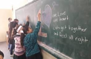 اطفال من غزة وسوريا واسرائيل والسودان والعراق يغنون للحب والسلام