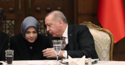 الرئيس التركي أردوغان رفقة المستشارة بالرئاسة التركية فاطمة أبو شنب-مواقع التواصل