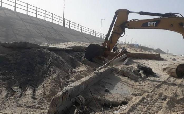 انفجار خط مياه على جسر  وادي غزة .. وتنويه من المرور - سما الإخبارية
