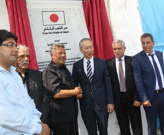 السفير الياباني يفتتح عدة مشاريع في غزة - سما الإخبارية