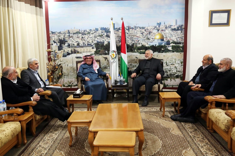 صور: العمادي يلتقي قيادة حماس فور وصوله غزة - سما الإخبارية