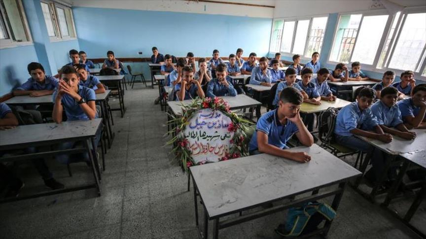 مدرسة  معاذ بن جبل  في غزة تعيش صدمة استشهاد  طالبها الخلوق  - سما الإخبارية