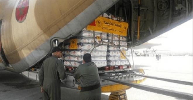 3 طائرات تنقل مساعدات مغربية إلى غزة - سما الإخبارية